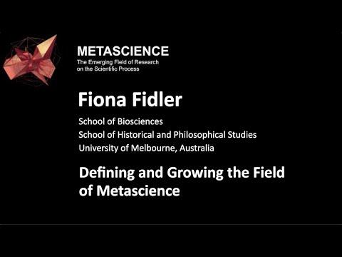 Defining and Growing the Field of Metascience | Metascience Forum 2020