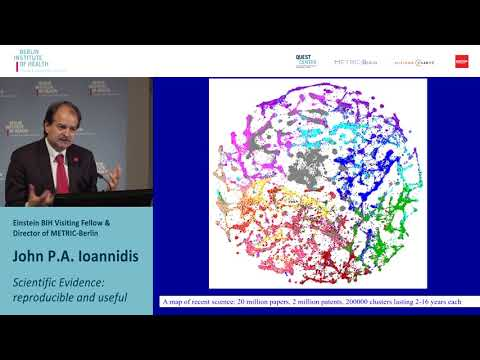 """Lecture of Prof. John P.A. Ioannidis """"Scientific evidence: reproducible and useful"""""""