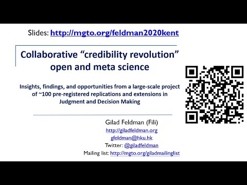 "Collaborative ""credibility revolution"" open & meta science 