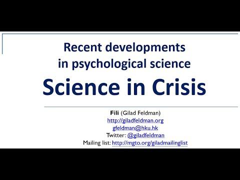Science Crisis | Judgment and Decision Making / Social Psychology | University of Hong Kong